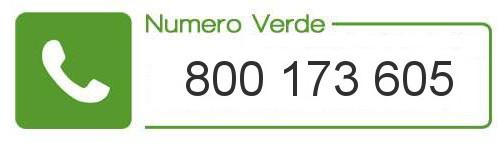 Numero verde: 800 173 605